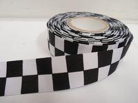 2 mtr or 20 metre roll x 25mm Grosgrain ribbon square block race finish line Sillitoe tartan Police